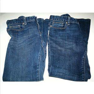 2 Old Navy Girls 10 Plus Jeans Flared Adjustable